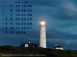 wallpaper August 2002 - lighthouse Hirtshals (DK) at night