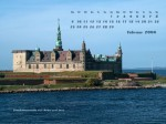 wallpaper February 2004 - castle and lighthouse Helsingør (DK)