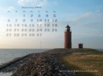 wallpaper Dezember 2004 - lighthouse Nordmarsch (Langeness)