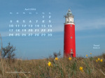 wallpaper April 2006 - lighthouse Texel (NL)