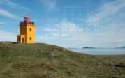 wallpaper February 2012 - lighthouse Hegranes (IS)