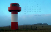 wallpaper Dezember 2012 - lighthouse Nebel (D)