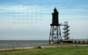 wallpaper August 2013 - lighthouse Obereversand (D)