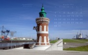 wallpaper December 2013 - lighthouse Kaiserschleuse Bremerhaven (D)