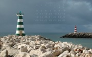 wallpaper August 2014 - pier lights Vilamoura (POR)