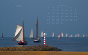 wallpaper January 2019 - pier light Northern pier Harlingen (NL)