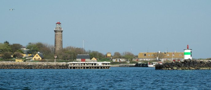 all three lighthouses of the island of Hirsholm