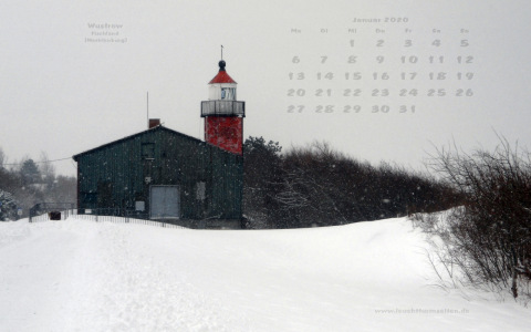 wallpaper of January 2020 - lighthouse Wustrow